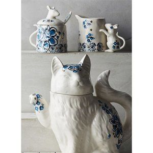 6 piece Elise Tea set Anthropologie Cat Lover's!!